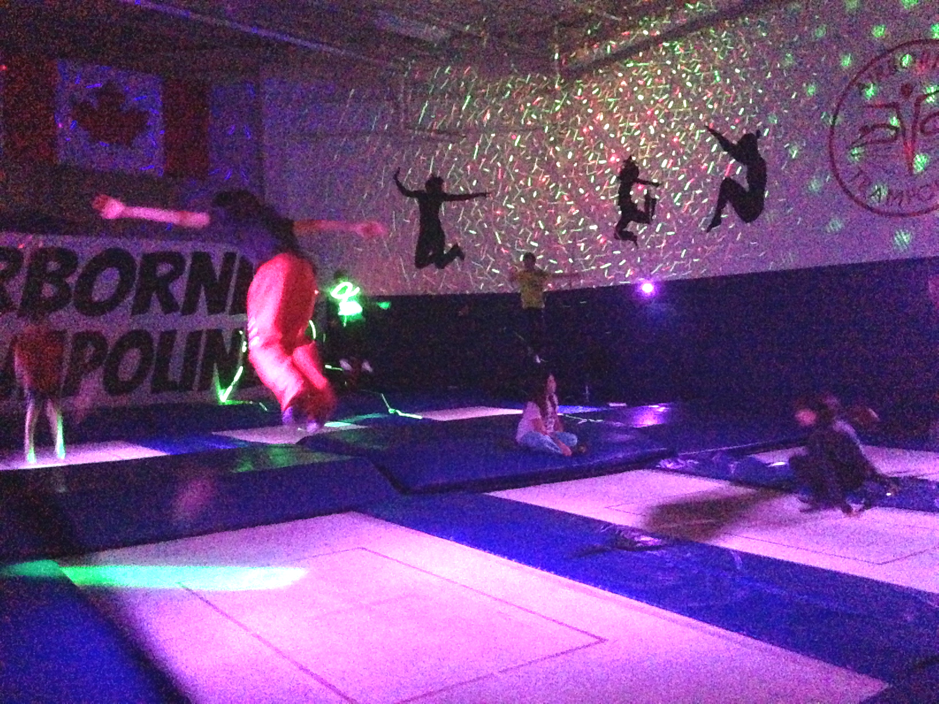 Lights, Lasers, and Trampolines!