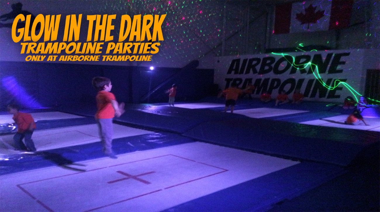 Glow In The Dark Trampoline Party
